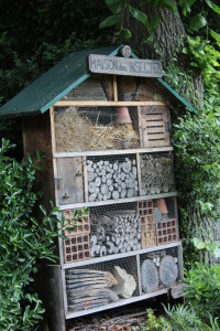 Insect hotel in the Luxemburgh Gardens in Paris